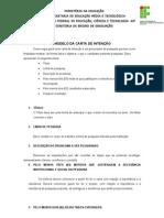 Modelo de Carta de Intenção