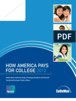 How America Pays For College 2012