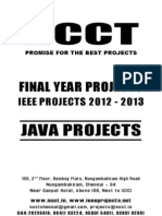 2012 Java Project Titles for Colleges