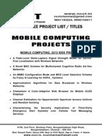 Java - Mobile Computing Project Titles - List = 2012-13, 2011, 2010, 2009, 2008