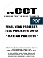 MATLAB 2012-13 Project Titles