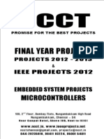 NCCT - 2012 - 2013 IEEE Projects List - Embedded System Projects