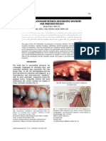 THE INTER-RELATIONSHIP BETWEEN RESTORATIVE DENTISTRY AND PERIODONTOLOGY