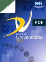 Directorio de Universidades 2012 - ANR - Peru