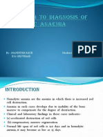 Approach to Diagnosis of Hemolytic Anaemia
