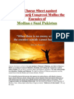 The Charge Sheet Against Pro-Khawarij Congressi Deobandis Enemies of Medina e Sani Pakistan