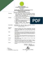 Surat Keputusan Rektor UNMUHA tentang Calon Mahasiswa Baru Universitas Muhammadiyah Aceh Tahun Akademik 2012/2013 yang Dinyatakan Lulus atau Diterima