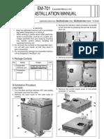 Installation Manual Expanded Memory Unit Em-701