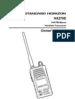 HX270E Owners Manual
