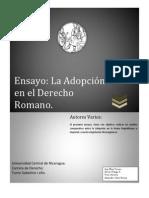 Copia de Ensayo Sobre La Adopcion en La Roma Antigua