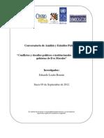 Conflictos y desafíos políticos e institucionales  del segundo gobierno de Evo Morales