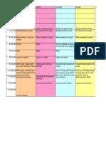 Schedule - Regular