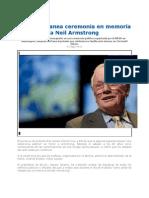 La NASA Planea Ceremonia en Memoria a Neil Armstrong