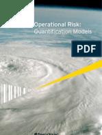 Operational Risk; Quantification Models