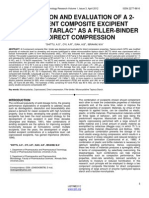 Formulation and Evaluation of a 2 Component Composite Excipient Microcrystarlac as a Filler Binder for Direct Compression