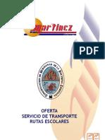 Oferta Servicio de Transporte Curso 2012 2013