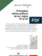 HistoriaTipografía Principales estilos gráficos de los siglos XV al XX