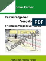 Praxisratgeber Vergaberecht - Fristen im Vergabeverfahren, 2. Auflage, erweitert und aktualisiert - Leseprobe
