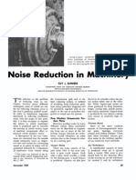 Noise Control on Machinery