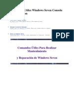 Comandos Utiles Windows Seven Consola Recuperacion