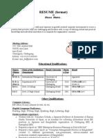 Sahed Sample Resume