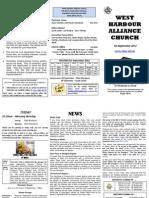 Church Newsletter - 02 September 2012