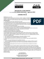 Simulado VIII Exame Unificado Tipo 01
