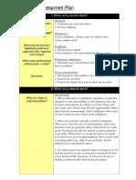 Example Personal Development Plan