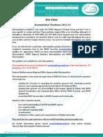 IPSF EMRO Subcommittees Call 2012-13