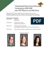 k Orientation Packet 2012-2013