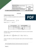 MA11 - Integrais - Integracao Tabular e Integral Definida