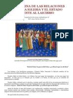 La Doctrina de Las Relaciones Entre Iglesia y Estado Frente Al Laicismo
