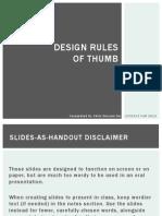 Design Rules of Thumb
