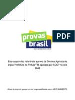Gabarito Tecnico Agricola Prefeitura de Pinhao Pr 2009 Aocp