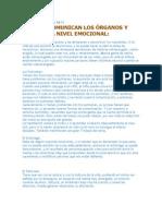 Como Se Comunican Los Organos y Viceras Emocionalmente