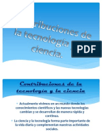 Contribuciones de la tecnología y la ciencia