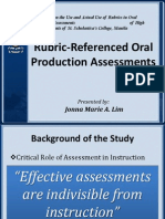 F4 Lim Rubric-Referenced Oral Production Assessment