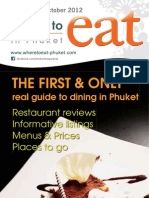 Where to Eat Phuket September - October 2012