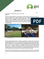 GVI Fiji Achievement Report July - The Silana Project