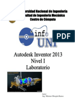 Manual Inventor 2013 - Nivel 1 - Laboratorio