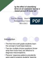 H3 Acid Balance Tsai-Wei Huang