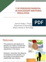 J2 Pinugu Effect of Perceived Parental Behavior on Emotional Regulation