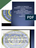 K1 Jocson Model of Formative Assessment