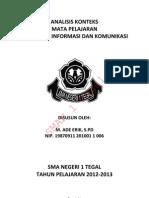 Analisa Konteks TIK SMA Berkarakter 2012 - 2013