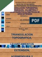 Triangulacion, Agrimensaura y Volumetria