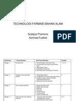 Teknologi Farmasi Bahan Alam