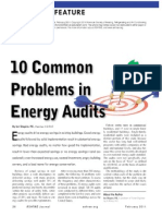 10 Problems in Energy Audits