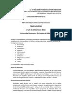 CONVOCATORIA CONGRESO PSICOANALISIS 2011