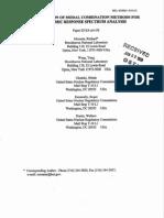 Evaluation of Model Combination Methods for Seismic Response Spectrum Analysis