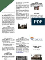 Pender UMC Education Brochure Sunday School  2012-2013